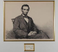 """Abraham Lincoln"" and original Abraham Lincoln Proclamation and Signature"