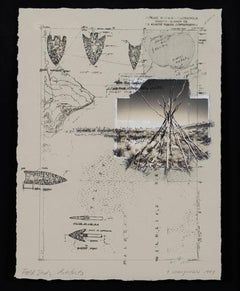 """Field Study - Artifacts,"" Collage Piece with Photos & Pages by Terri Warpinski"