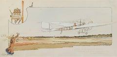 """""""Prix de la Nature,"""" original color lithograph and pochoir by George Bric"""