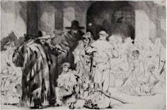 """""""Les Emigrants,"""" roller engraving by Auguste Brouet"""