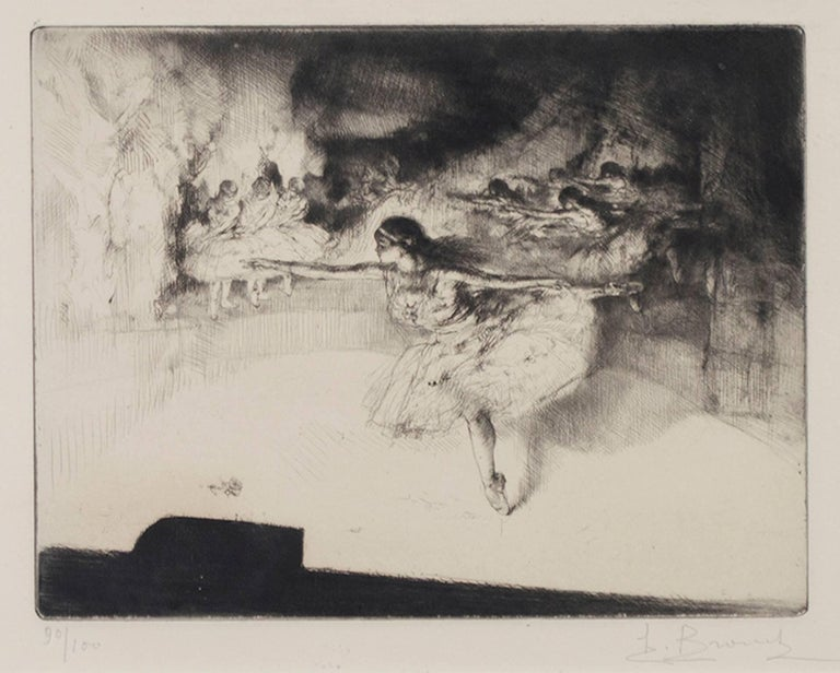 """""""Le Ballet,"""" etching and drypoint by Auguste Brouet"""