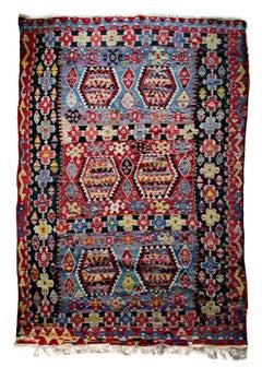 Kilim Rug, hand woven wool