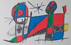 Original Lithograph VI, from Miro Lithographs II, Maeght Publisher