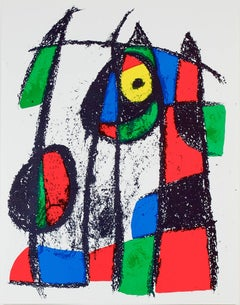 Original Lithograph VII, from Miro Lithographs II, Maeght Publisher