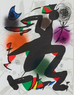 Original Lithograph IV, from Miro Lithographs III, Maeght Publisher