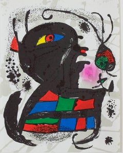 Original Lithograph V, from Miro Lithographs III, Maeght Publisher