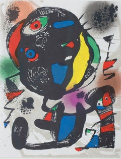 Lithographie Originale V, from Miro Lithographs IV, Maeght Publisher