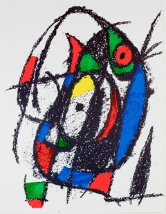 Original Lithograph IV, from Miro Lithographs II, Maeght Publisher