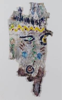 """Tree Owl Spirit,"" original watercolor on birch bark by David Barnett"