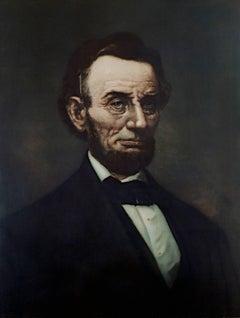 Large Portrait of Abraham Lincoln - Hand-embellished Print
