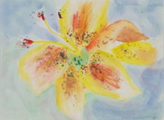 """Day Lily,"" original watercolor by David Barnett"