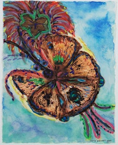 """Giant Hybrid Hibiscus Butterfly with Flower,"" mixed media by David Barnett"