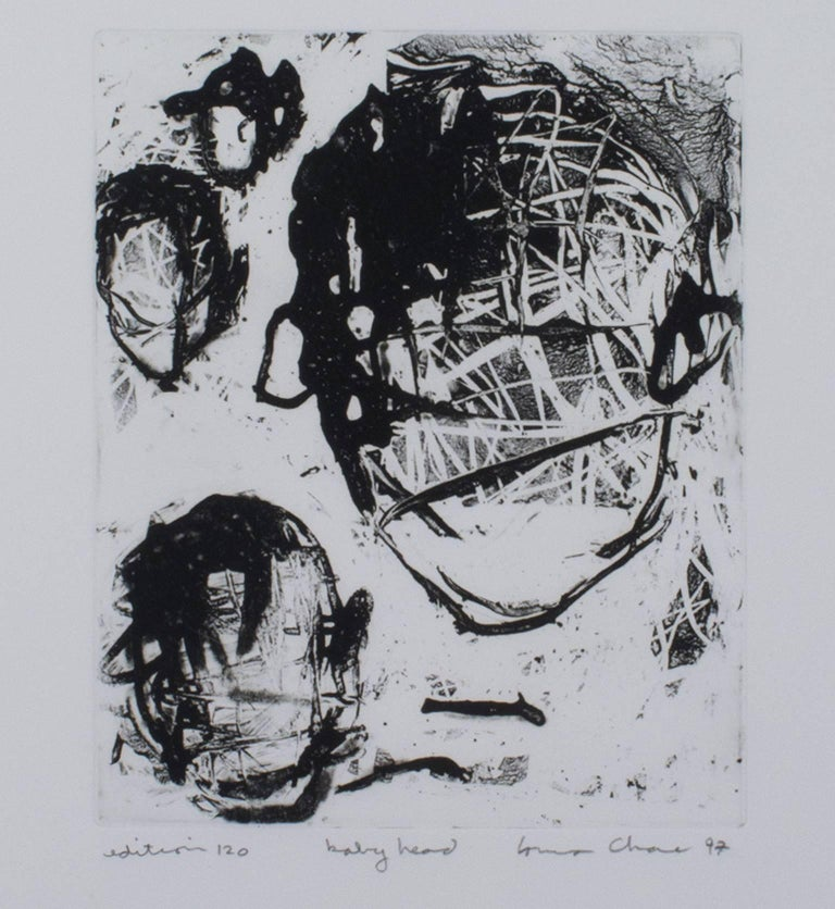 """Baby Head,"" original etching by Louisa Chase, edition of 120"