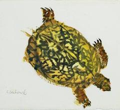 """Three Legged Turtle,"" original watercolor by Alicia Czechowski"