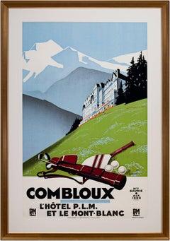 """""""Combloux (Golfing),"""" original lithograph poster by Pierre Commarmond"""