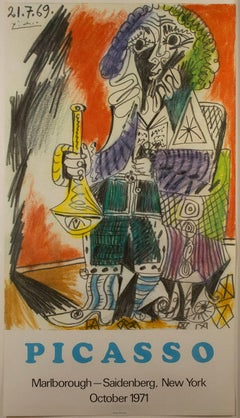 """""""Man with Horn,"""" rare poster after Pablo Picasso"""