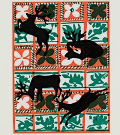 """Yuletide Silhouette,"" original color silkscreen by Ruth Grotenrath"