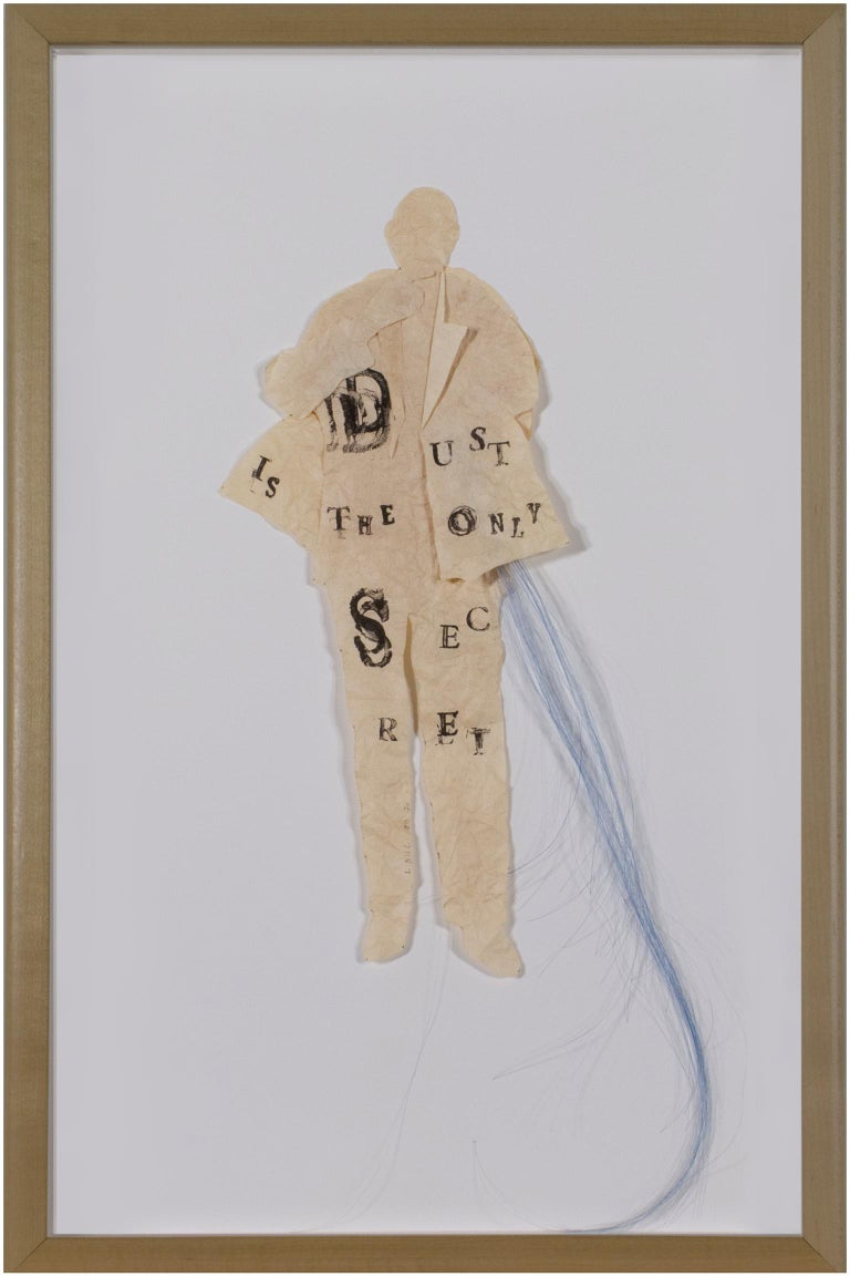 """""""Listen (Dust is the Only Secret),"""" mixed media by Lesley Dill"""