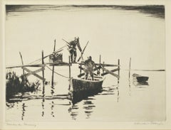"""November Morning,"" original etching by Churchill Ettinger"