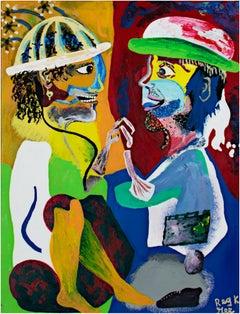 """Footwork at Random - Variation I,"" mixed media acrylic on canvas Reggie K. Gee"