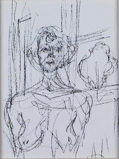 """""""Annette,"""" original black and white lithograph by Alberto Giacometti"""