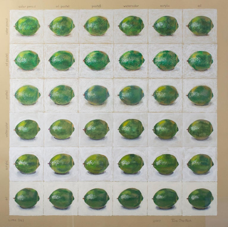 """""""Lime (36)"""" mixed media on paper by Tom Shelton"""