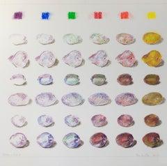 """Potatoes & Fruit 2,"" oil pastel on paper by Tom Shelton"