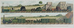 """""""Traveling on the Liverpool & Manchester Railroad, 1831,"""" by Raphael Tuck & Sons"""