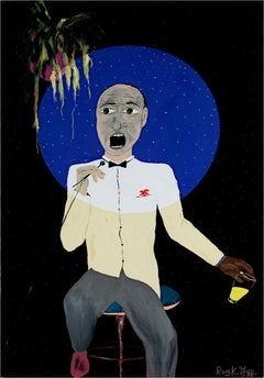 """Suddenly I Saawww...Polka Dots And Mooonnbeams..."" acrylic by Reginald K. Gee"