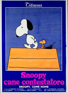 """""""Snoopy Come Home,"""" original lithograph poster by Charles Chulz"""