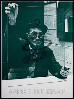 """The Oculist Witness,"" poster, self-portrait, by Marcel Duchamp"