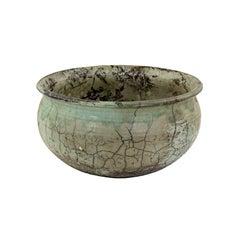 Raku Ceramic Bowl by Ken Kapp, earth-colored glaze