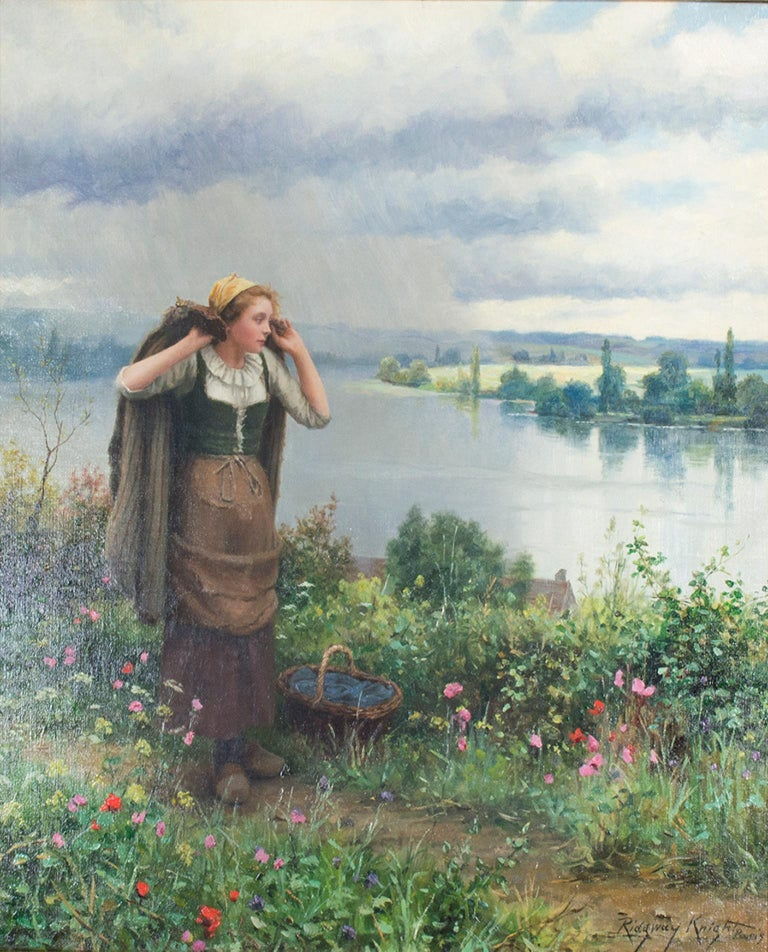 """""""Approaching Storm,"""" oil painting on canvas by Daniel Ridgway Knight"""
