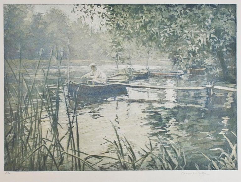 """Le Pecheur,"" original aquatint by Manuel Robbe"