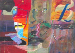 """""""Man, How Did They Know Me?"""" oil pastel on illustration board by Reginald K. Gee"""