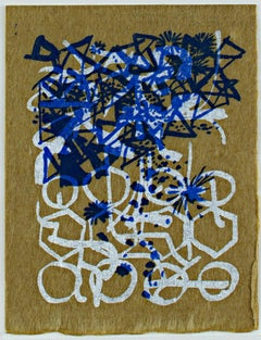 """Season's Greetings,"" abstract holiday silkscreen by Schomer Lichtner"