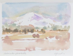 """Colorado Foothills,"" watercolor landscape painting by Craig Lueck"