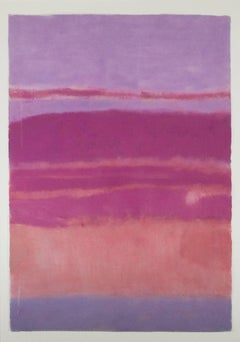 """Landscape Pink & Red,"" an Abstract Pastel by Sue Bartfield"