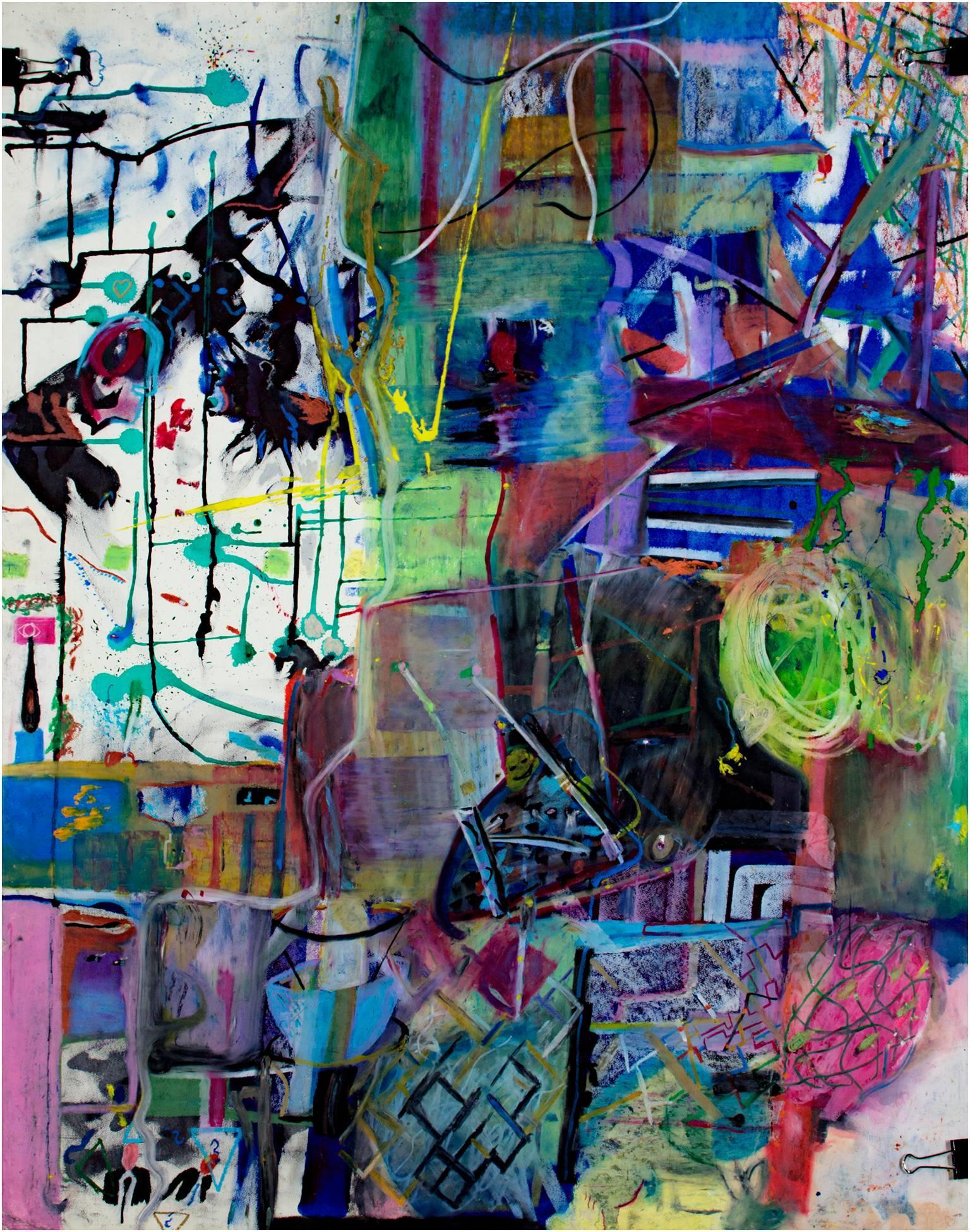 """Brunch Break,"" Oil Pastel signed by Reginald K. Gee"
