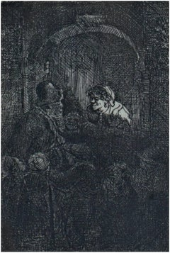 Woman at a Door Hatch Talking to a Man and Children (The Schoolmaster)