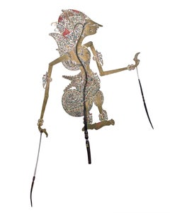 """""""Indonesian Shadow Puppet Wayang Purwa,"""" Leather created in Indonesian"""