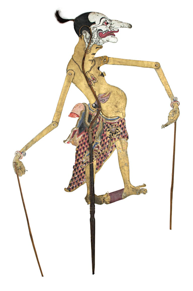 how to make indonesian shadow puppets