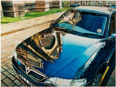 """""""Reflections, Lincoln, England (Car),"""" Watercolor signed by Bruce McCombs"""