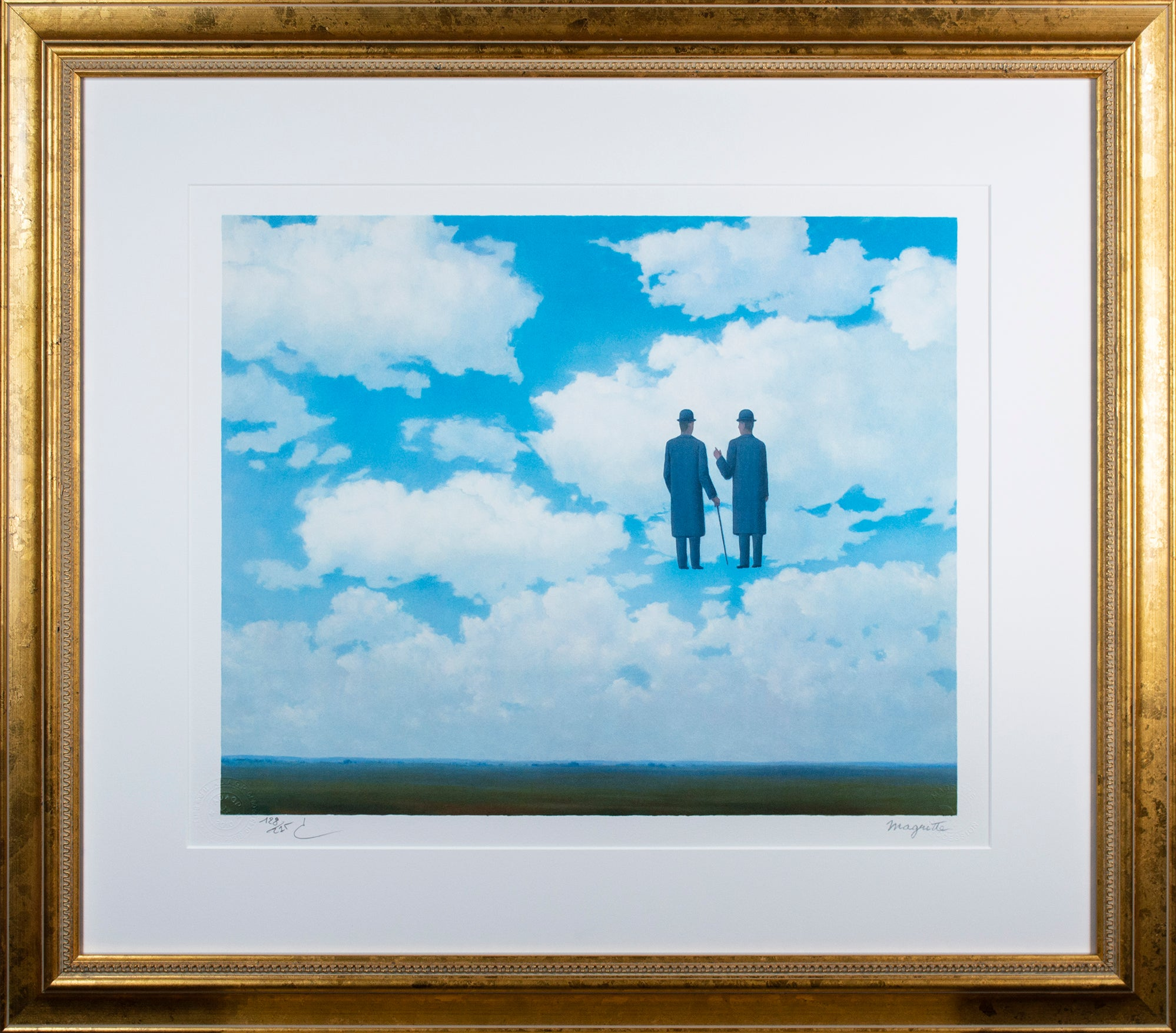"""La Reconnaissance Infinie (The Infinite Recognition)"" Litho after Rene Magritte"