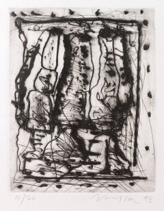 Untitled Dry Point Etching CR 314-PR
