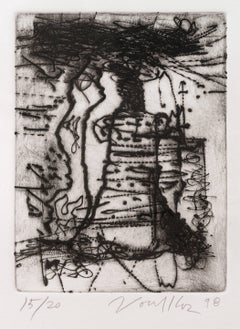 Untitled Dry Point Etching CR 313-PR