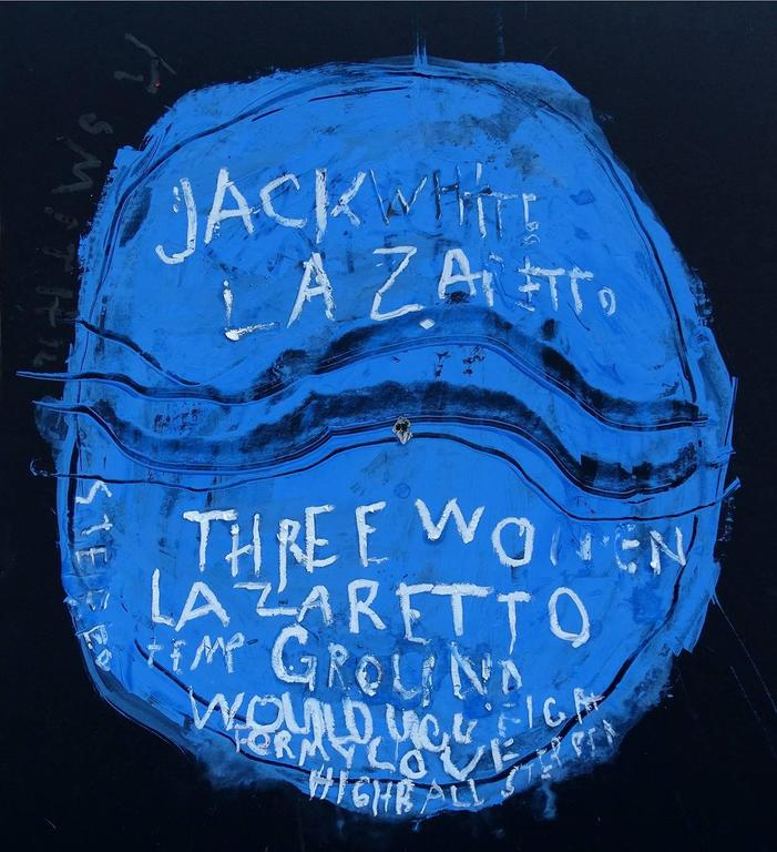 Kerry Smith Figurative Painting - Off the Record / Jack White / Lazaretto