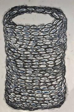 Black and Blue Swirl