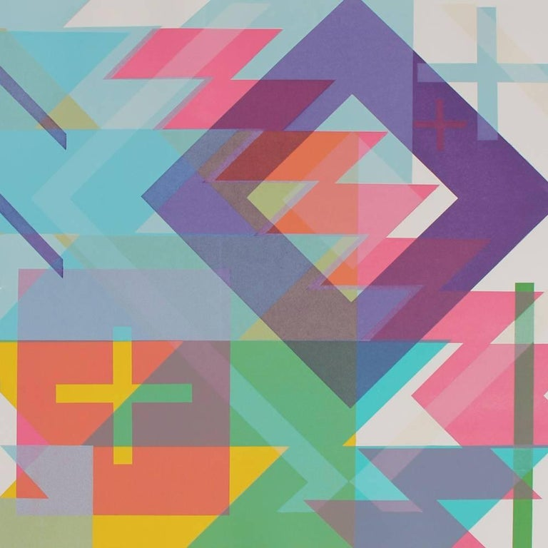 Momentum I - Abstract Geometric Print by Travis Porter