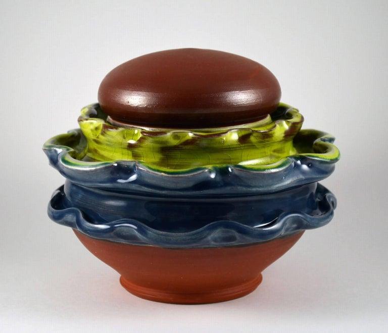 Mariko Brown Harkin Figurative Sculpture - Coffee Jar